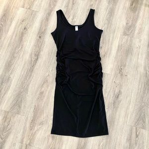 (Maternity) Black Fitted Dress